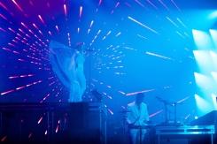 Röyksopp performs at the Coachella Music Festival in Indio, California on April 15, 2017. (Photo: Julian Bajsel)