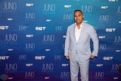 Russell Peters attends the 2017 JUNO Awards at the Canadian Tire Centre in Ottawa on April 2, 2017