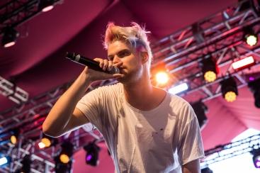 Sofi Tukker performs at the Coachella Music Festival in Indio, California on April 16, 2017. (Photo: Greg Noire)
