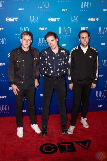 The Dirty Nil attends the 2017 JUNO Awards at the Canadian Tire Centre in Ottawa on April 2, 2017. (Photo: Brendan Albert/Aesthetic Magazine)