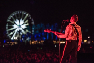 The XX performs at the Coachella Music Festival in Indio, California on April 14, 2017. (Photo: Charles Reagan)