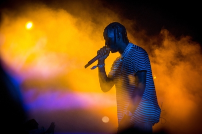 Travis Scott performs at the Coachella Music Festival in Indio, California on April 14, 2017. (Photo: Brian Willette)