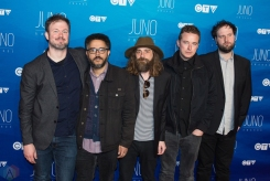 Wintersleep attends the 2017 JUNO Awards at the Canadian Tire Centre in Ottawa on April 2, 2017. (Photo: Brendan Albert/Aesthetic Magazine)