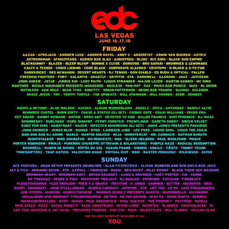 EDC Las Vegas 2017 Lineup