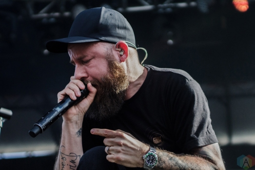In Flames performs at Welcome To Rockville at Metropolitan Park in Jacksonville, Florida on April 29, 2017. (Photo: Savannah Rowley/Aesthetic Magazine)