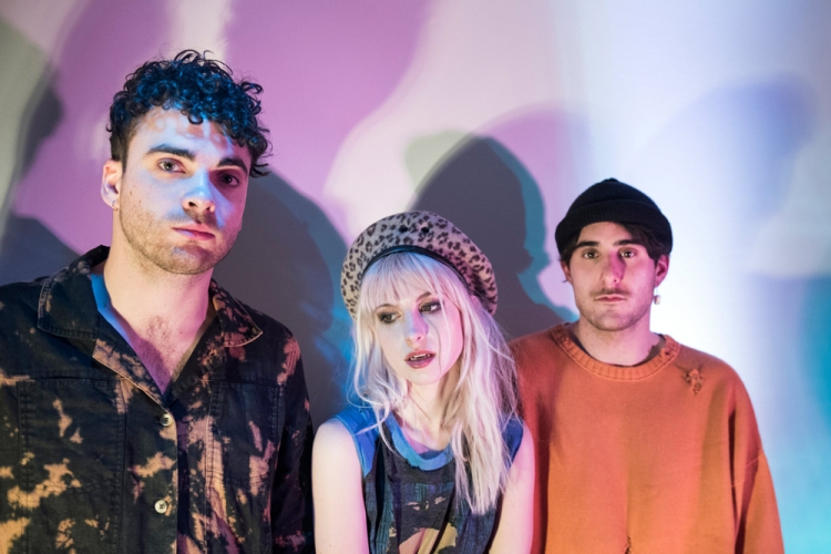 Taylor York, Hayley Williams, and Zac Farro of Paramore. (Photo: Lindsey Byrnes)