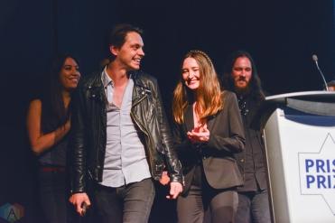 Hi-Fidelity Award winners July Talk at the Prism Prize gala at TIFF Lightbox in Toronto on May 14, 2017. (Photo: Joanna Glezakos/Aesthetic Magazine)