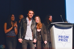 Hi-Fidelity Award winners July Talk at the Prism Prize gala at TIFF Lightbox in Toronto on May 14, 2017. (Photo: Joanna Glezakos/Aesthetic Magazine)