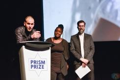 2017 Grand Prize winner Martin C. Parizeau at the Prism Prize gala at TIFF Lightbox in Toronto on May 14, 2017. (Photo: Joanna Glezakos/Aesthetic Magazine)