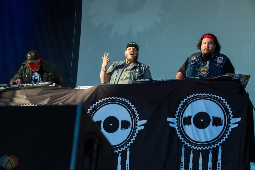 A Tribe Called Red performs at the Field Trip Music Festival in Toronto on June 3, 2017. (Photo: Brendan Albert/Aesthetic Magazine)