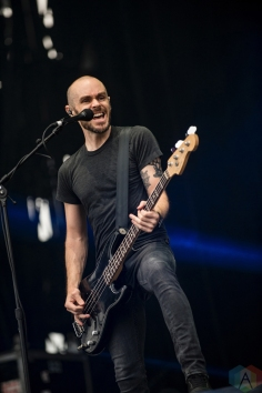AFI performs at Montebello Rockfest in Montebello, Quebec on June 23, 2017. (Photo: Greg Matthews/Aesthetic Magazine)