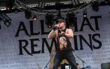 All That Remains performs at Montebello Rockfest in Montebello, Quebec on June 23, 2017. (Photo: Greg Matthews/Aesthetic Magazine)
