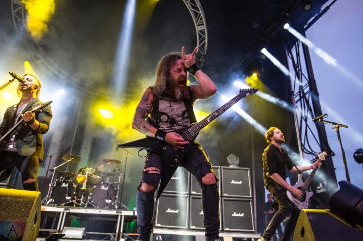 Bullet For My Valentine performs at Montebello Rockfest in Montebello, Quebec on June 23, 2017. (Photo: Greg Matthews/Aesthetic Magazine)