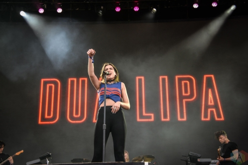 Dua Lipa performs at the Governors Ball Music Festival in New York City on June 3, 2017. (Photo: Alx Bear/Aesthetic Magazine)