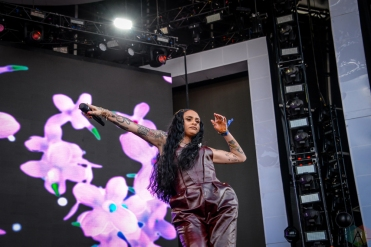Kehlani performs at Governors Ball in New York City on June 2, 2017. (Photo: Alx Bear/Aesthetic Magazine)