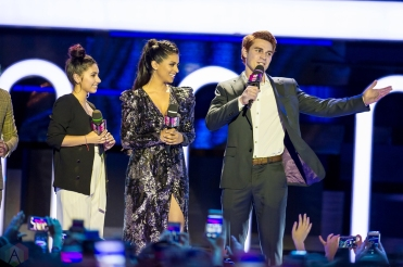 KJ Apa on stage at the 2017 iHeartRadio Much Music Video Awards in Toronto on June 18, 2017. (Photo: Orest Dorosh/Aesthetic Magazine)