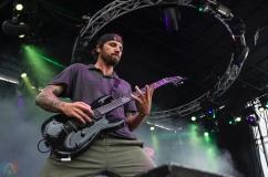 Parkway Drive performs at Montebello Rockfest in Montebello, Quebec on June 23, 2017. (Photo: Greg Matthews/Aesthetic Magazine)