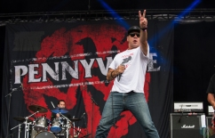 Pennywise performs at Montebello Rockfest in Montebello, Quebec on June 23, 2017. (Photo: Greg Matthews/Aesthetic Magazine)