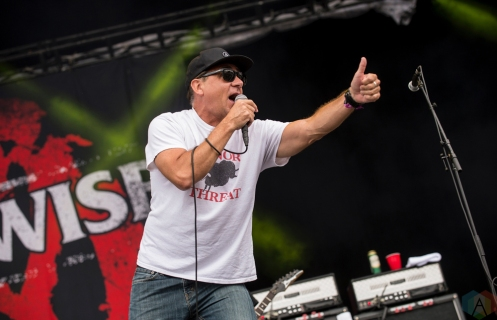 Pennywise performs at Montebello Rockfest in Montebello, Quebec on June 23, 2017. (Photo: Greg Matthews/Aesthetic Magazine)