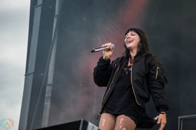 Sleigh Bells performs at the Port Lands in Toronto on June 23, 2017 during NXNE. (Photo: Sarah McNeil/Aesthetic Magazine)