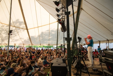 Charlotte Day Wilson performs at Hillside Festival on July 15, 2017. (Photo: Morgan Hotston/Aesthetic Magazine)