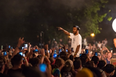 Frank Ocean performs at the Panorama Music Festival in New York City on July 28, 2017. (Photo: Doug Van Sant)