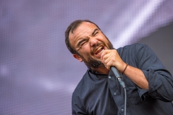 Future Islands performs at the Panorama Music Festival in New York City on July 28, 2017. (Photo: Doug Van Sant)