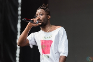 Isaiah Rashad performs at Pitchfork Festival in Chicago on July 16, 2017. (Photo: Katie Kuropas/Aesthetic Magazine)