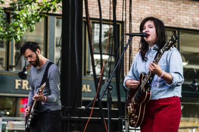 Lucy Dacus performs at Capitol Hill Block Party in Seattle on July 21, 2017. (Photo: Kevin Tosh/Aesthetic Magazine)