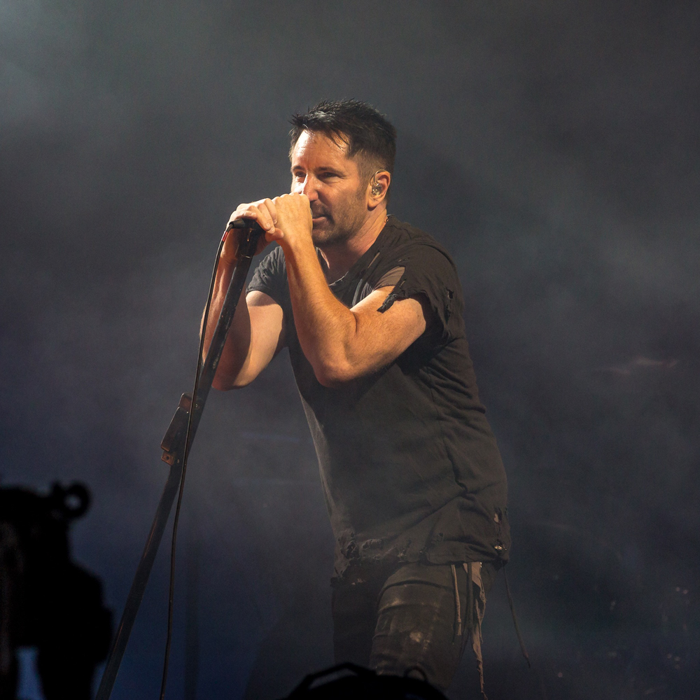 Nine Inch Nails performs at the Panorama Music Festival in New York ...