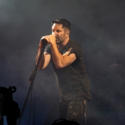 Nine Inch Nails performs at the Panorama Music Festival in New York City on July 30, 2017. (Photo: Nikki Jahanforouz)