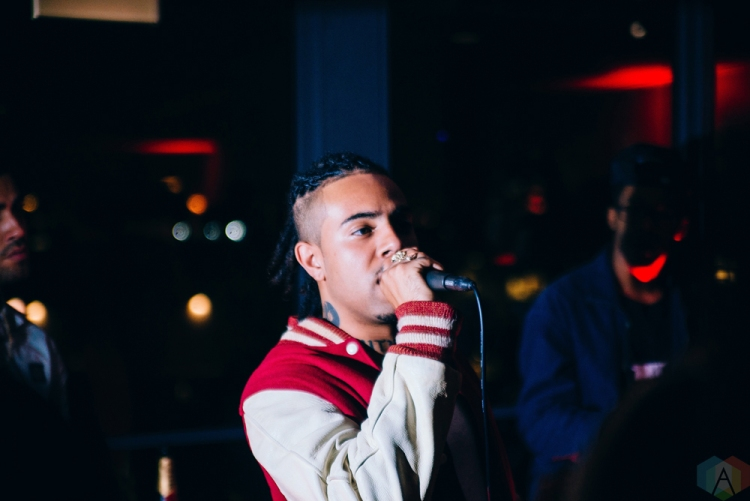 """Vic Mensa attends the listening party for """"The Autobiography"""" at the Ace Hotel in Chicago on July 15, 2017. (Photo: Callie Craig/Aesthetic Magazine)"""