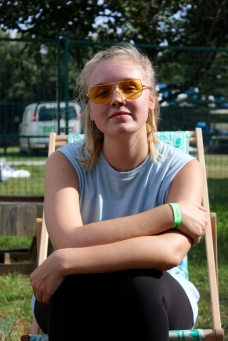 Babygirl poses for a portrait backstage at Big Feastival at Burl's Creek in Oro-Medonte, Ontario on August 20, 2017. (Photo: Curtis Sindrey/Aesthetic Magazine)