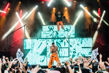 Die Antwoord performs at Project Pabst in Portland, Oregon on August 26, 2017. (Photo: Kevin Tosh/Aesthetic Magazine)