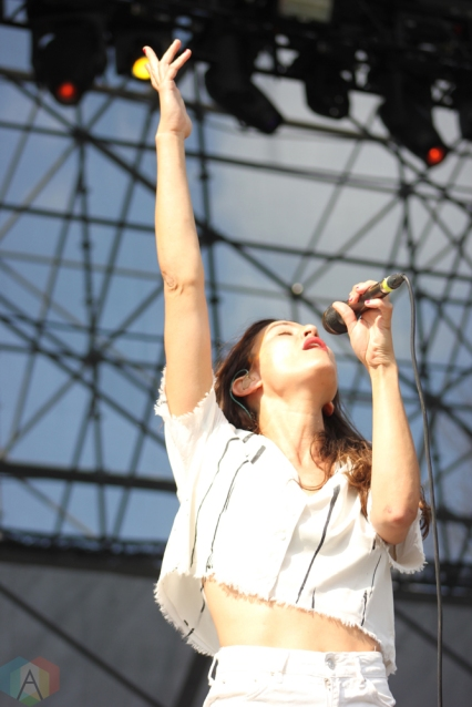 Dragonette performs at Big Feastival at Burl's Creek in Oro-Medonte, Ontario on August 20, 2017. (Photo: Curtis Sindrey/Aesthetic Magazine)