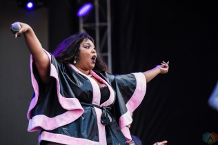 Lizzo performs at Project Pabst in Portland, Oregon on August 26, 2017. (Photo: Kevin Tosh/Aesthetic Magazine)