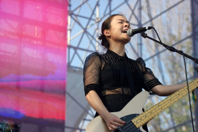 Mitski performs at Wayhome Festival on July 30, 2017. (Photo: Curtis Sindrey/Aesthetic Magazine)