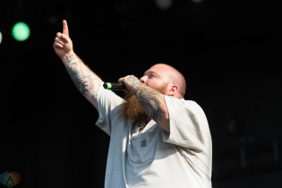 Action Bronson performs at Riot Fest in Chicago on September 15, 2017. (Photo: Katie Kuropas/Aesthetic Magazine)