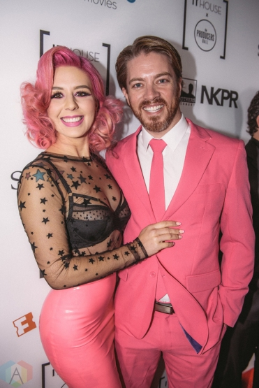 Annalee Belle and JD Scott attend Producers Ball gala in Toronto, Ontario during 2017 Toronto International Film Festival on September 8, 2017. (Photo: Harrison Haines/Aesthetic Magazine)