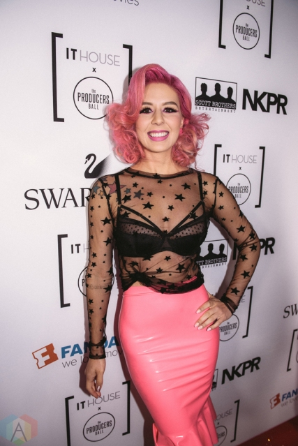Annalee Belle attends Producers Ball gala in Toronto, Ontario during 2017 Toronto International Film Festival on September 8, 2017. (Photo: Harrison Haines/Aesthetic Magazine)