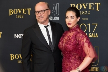 Paul Haggis (L) and Audrey Raffy attend the Artists For Peace And Justice gala at the Art Gallery of Ontario in Toronto on September 10, 2017 during the 2017 Toronto International Film Festival. (Photo: Brendan Albert/Aesthetic Magazine)