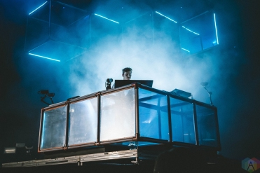 Flume performs at Bumbershoot in Seattle on September 1, 2017. (Photo: Daniel Hager/Aesthetic Magazine)
