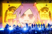 Gorillaz performs at Meadows Festival at Citi Field in New York City on September 16, 2017. (Photo: Alx Bear/Aesthetic Magazine)