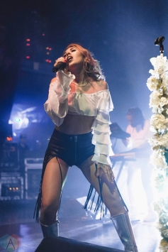 Kali Uchis performs at Danforth Music Hall in Toronto on September 14, 2017. (Photo: Anton Mak/Aesthetic Magazine)