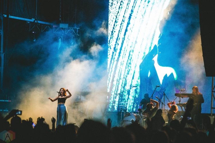 Lorde performs at Bumbershoot in Seattle on September 2, 2017. (Photo: Daniel Hager/Aesthetic Magazine)