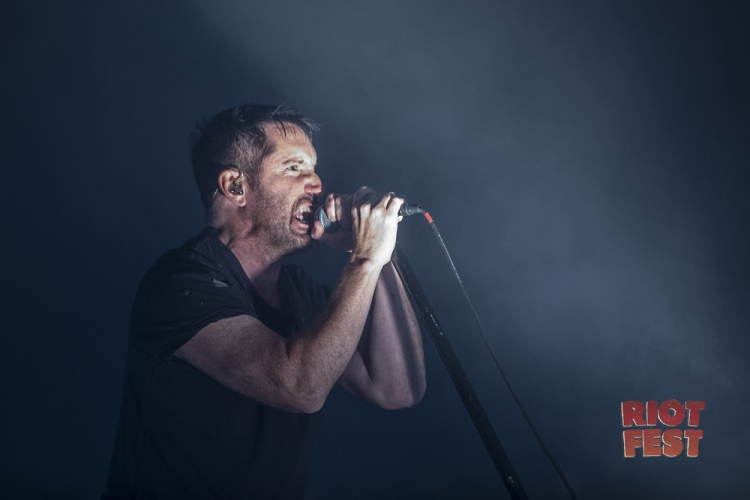 Trent Reznor of Nine Inch Nails performs at Riot Fest in Chicago on ...