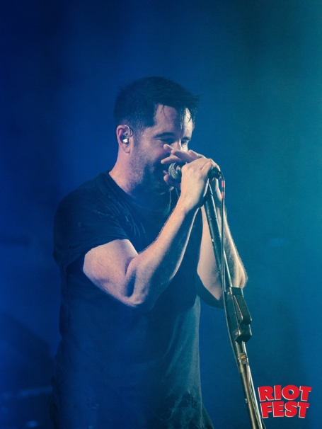 Trent Reznor of Nine Inch Nails performs at Riot Fest in Chicago on September 15, 2017. (Courtesy of Riot Fest)