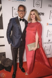 Noah Cappe and Keri West attend Producers Ball gala in Toronto, Ontario during 2017 Toronto International Film Festival on September 8, 2017. (Photo: Harrison Haines/Aesthetic Magazine)