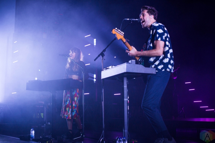 Oh Wonder performs at Danforth Music Hall in Toronto on September 18, 2017. (Photo: Sarah McNeil/Aesthetic Magazine)