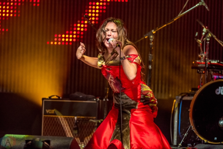 Tanya Tagaq performs at the Polaris Music Prize gala at the Carlu in Toronto on September 18, 2017. (Photo: Orest Dorosh/Aesthetic Magazine)